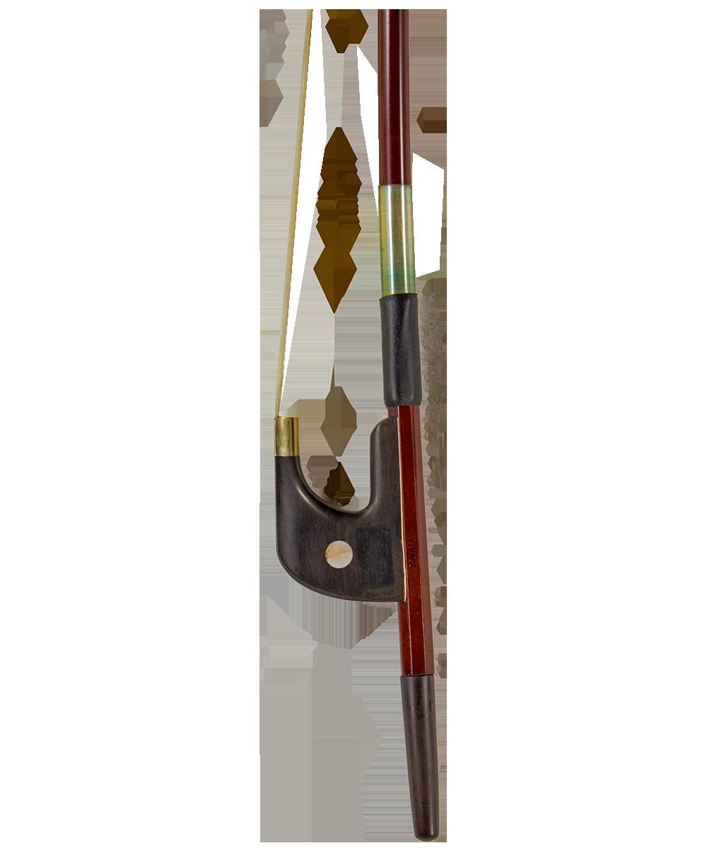 Brazilwood Bass Bow Ebony Frog, German Style