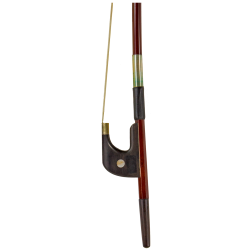Brazilwood Bass Bow Ebony Frog, German Style