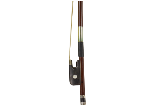 Brazilwood Bass Bow Ebony Frog, French Style