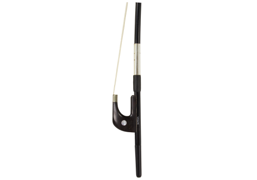 Carbon Composite Bass Bow Ebony Frog, German Style