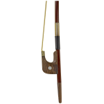 Brazilwood Bass Bow Rosewood Frog, German Style